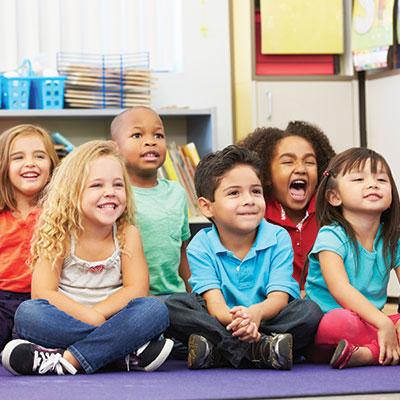 group of happy preschoolers